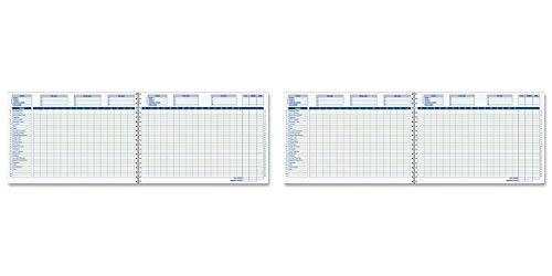 Adams Home Office Budget Book, Weekly/Monthly Format, 10 x 7 Inches, White (AFR31), 2 Packs