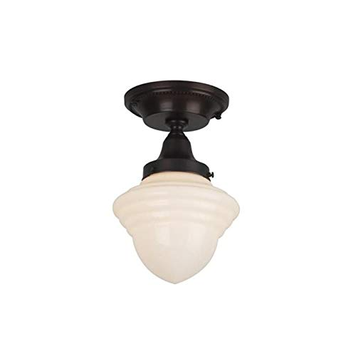 Carlton One Light Flush Ceiling Fixture with 3-1/4