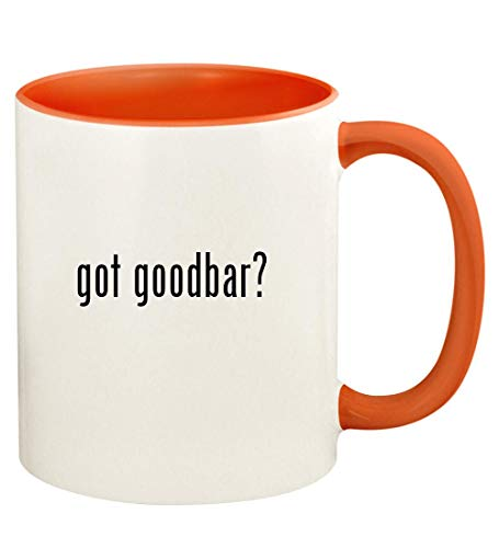 got goodbar? - 11oz Ceramic Colored Handle and Inside Coffee Mug Cup, Orange (Goodbar For Looking Movie Mr Dvd)