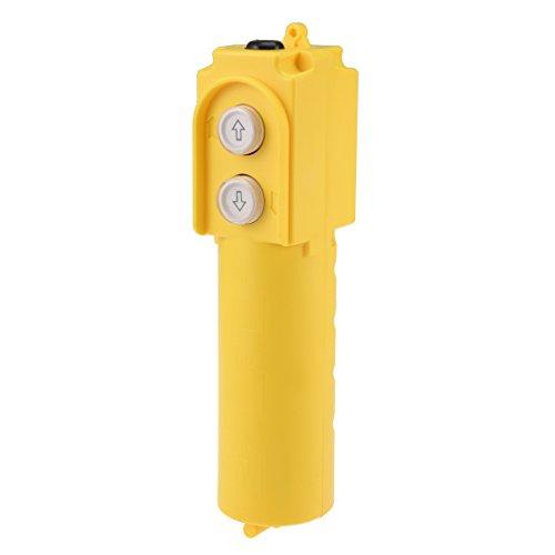 uxcell Rainproof Hoist Crane Pendant Control Station Push Button Switch Up Down 2 Ways Yellow