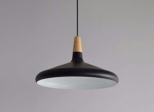 Plafoniera Ferro Battuto Nero : Shengye stile rustico plafoniera lampada a sospensione in legno nero