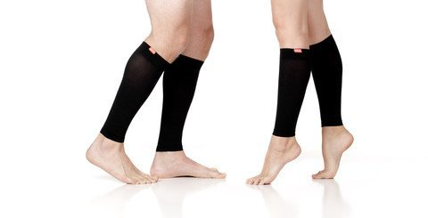 VIM & VIGR Stylish Compression Legwear for Women and Men - Moisture-wick Nylon-Calf Sleeves - Solid (Black) - Unisex (Small/Medium) by VIM&VIGR
