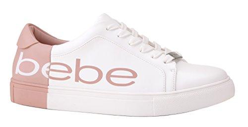 Charley White Sneaker Pink Women's bebe 1q6USS