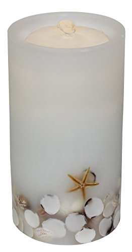 Bethlehem Lighting GKI AQUAFLAME White Seashell Flameless Candle/Fountain,