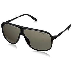 Carrera Men's New Safaris Aviator Sunglasses, Matte Black,Shinny Black & Brown Gray, 62 mm