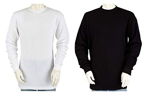 Styllion - Big and Tall Mens Thermal Shirt - Heavy Weight - 100% Cotton