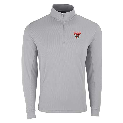 Vantage Minor League Baseball Portland Sea Dogs Men's 1/4 Zip Pull Over Top, Large, Gray