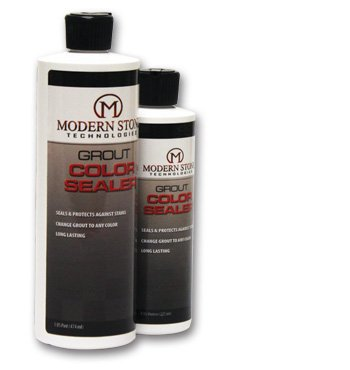 Modern Stone's Grout Stain Sealer (Laticrete colors) Slate Grey, 08 oz Bottle (Bottle Slate)