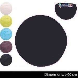 tapis de salle de bain rond. Black Bedroom Furniture Sets. Home Design Ideas