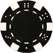 25 Clay Composite Dice Striped 11.5 gram Poker Chips, ()