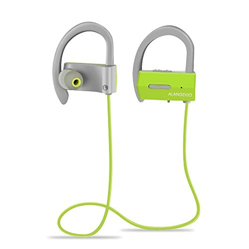 Sport Bluetooth Headphones, Waterproof Running Headphones Wireless Bluetooth Earbuds Earphones with Mic and Volume Control for Sports Gym (Green)