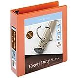 Office Depot(R) Brand Heavy-Duty Easy Open(R) D-Ring View Binder, 2in. Rings, 8 1/2in. x 11in, 565-Capacity, Orange
