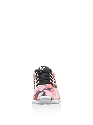 adidas Zx Flux J, Zapatillas para Niños Blanco / Negro / Rosa