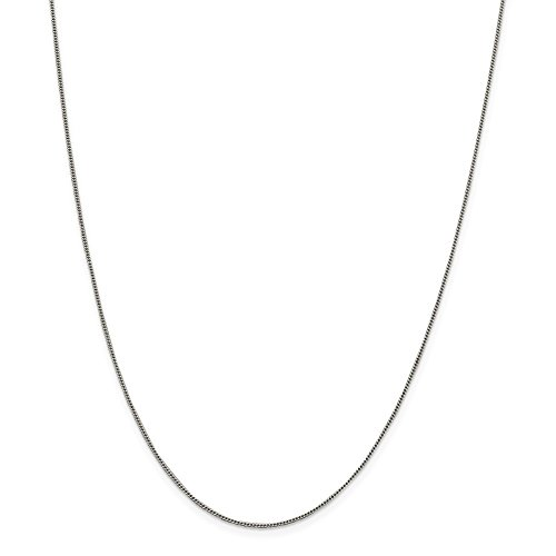 Open Curb Chain - Sterling Silver 1mm Open Curb Chain Necklace QPE56