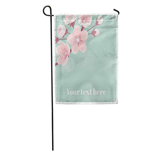 Coral Places Springs (Semtomn Garden Flag Pink Peach Cherry Blossom Spring Flowers Retro Place for Apricot Home Yard Decor Barnner Outdoor Stand 28x40 Inches Flag)