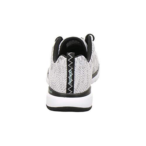 Wbk Sneaker Skechers Black white Donna Flex Bianco 3 Appeal 0 wxqz1PvI