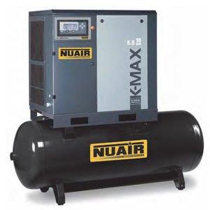Compresor de aire de tornillo Silencioso con sécheur integrado 270 litros 7,5 CV NuAir: Amazon.es: Bricolaje y herramientas
