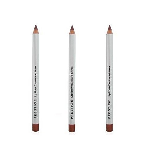 Lot of 3 pcs Prestige Classic Lip Liner 04 oz (203 (0.04 Ounce Lip Pencil)