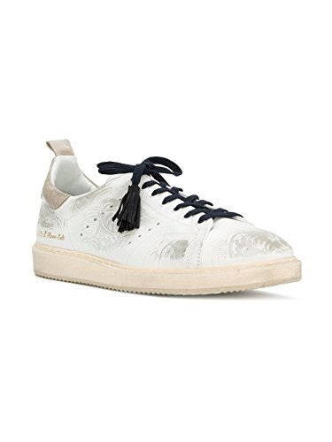 Golden Goose Homme G32MS631TEX Blanc Cuir Baskets