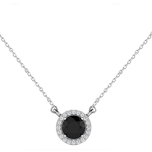Libertini 1.02 Cts diamant Round Shape Pendentif in 925 Sterling Silver (GH Col...