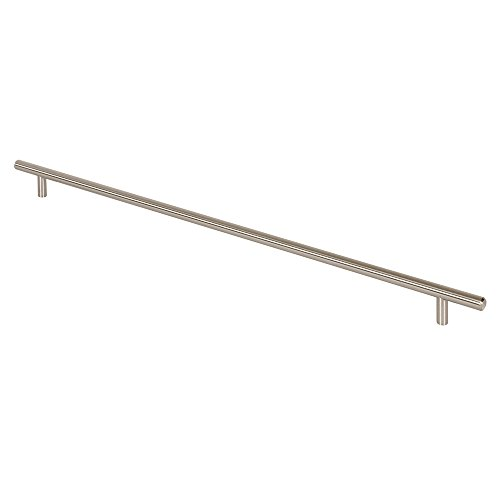 Prime-Line Products KD 17509 Bar Pull 22-Inch OL x 19-Inch CC x 12mm Dia, Satin Nickel (Handles Line Cabinet Prime)