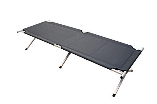 Herbst Angebot Feldbett anthrazit Campingbett ca. 190 x 64 x 41 cm belastbar bis 120 kg