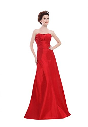 Scarlett Women's A-line Strapless Taffeta Bridesmaid Evening Dress Size 4 - Taffeta Evening Dress Strapless