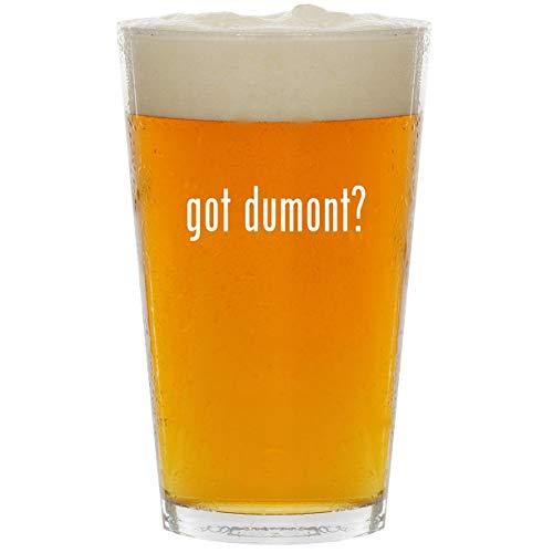got dumont? - Glass 16oz Beer Pint - Media Louis Chest