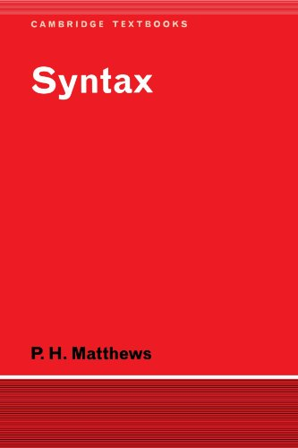 Syntax (Cambridge Textbooks in Linguistics)