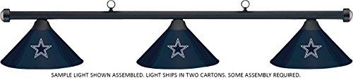 Imperial NFL Dallas Cowboys Blue Metal Shade & Black Bar Billiard Pool Table Light