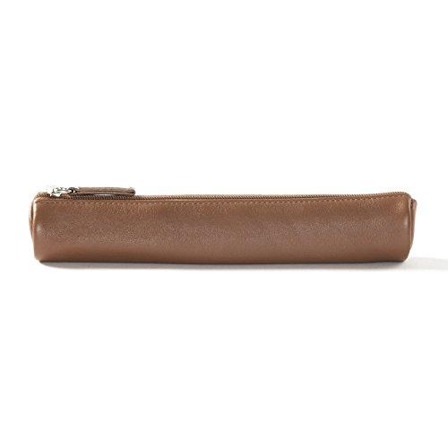 Small Pencil Case - Full Grain Leather - Cognac (Fancy Cognac)