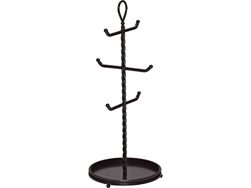 Gourmet Basics by Mikasa 5153176 Rope Metal Mug Tree Black