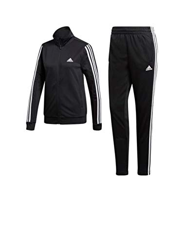 adidas Women's Lifestyle Sport Tracksuit Size S, Black / Black / White