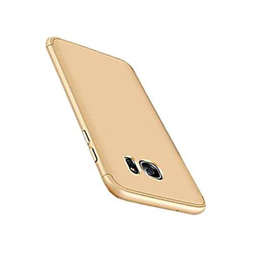 Price comparison product image Beryerbi Samsung Galaxy s6/s6 Edge Stylish Case Thin Hard Case With 3 Detachable Parts Protection Cover (Galaxy s6, Gold)