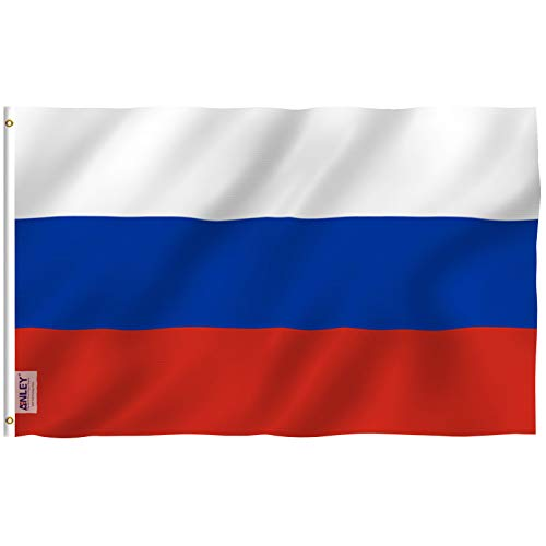Anley [Fly Breeze 3x5 Foot Russia Flag - Vivid Color and UV Fade Resistant - Canvas Header and Double Stitched - Russian Federation National Flags Polyester with Brass Grommets 3 X 5 Ft