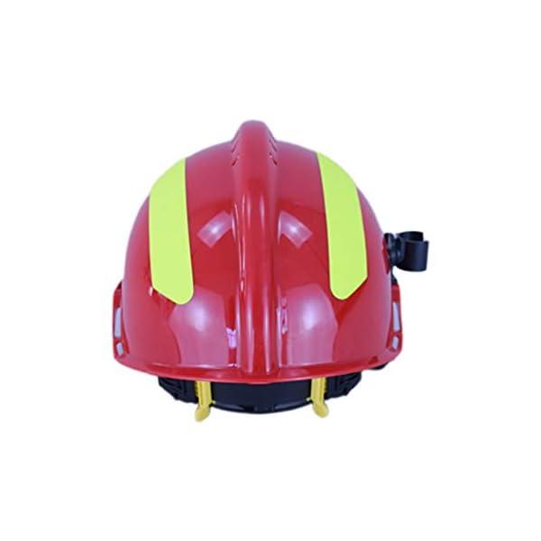 YUYUE21 Casquillo de Seguridad de protección de Casco de Rescate de terremoto con Gafas Sombrero de Bombero 10