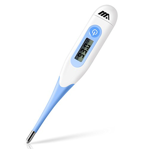 Adoric Medical Digital Oral Thermometer for Kids and Adults - 10 Sec Fast and Accurate Reading, Basal Temperature Thermometer with Fever Indicator by Mouth Rectal Underarm - FDA and CE Approved
