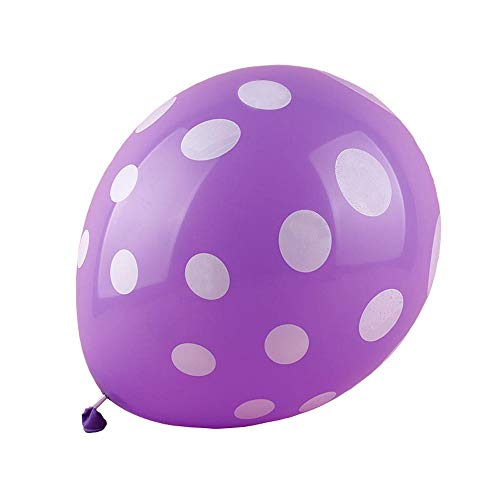 50 Ct 12 Inch Balloons Polka Dot Assorted Color 12 Inch Helium Quality Latex Inflatable for Festival Party Decoration Happy Birthday Home Decor Air Balls (15 Colors for Choice) -