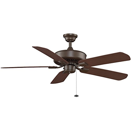 Edgewood 5 Blade Ceiling Fan - Fan Finish with Blade Finish: