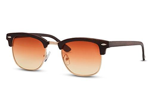 Marron Sol Variación Espejados 020 Ca Gafas Mujer de Hombre Retro Clubmaster Cheapass ZS4wP