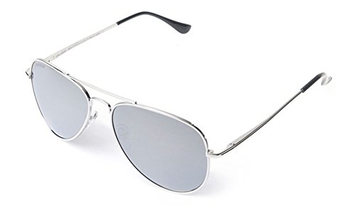 Peppers MP5705-4 Freeway Polarized Sunglasses, Silver/Silver Mirror, ()