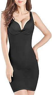 OMG_Shop Women Slimming Full Slip for Under Dresses Full Body Shaping Control Slip