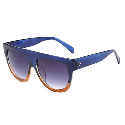 iNoDoZ Men Women Flat Top Square Vintage Mirrored Sunglasses Eyewear Outdoor Sports Glasses