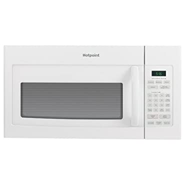 Hotpoint RVM5160DHWW Over-The-Range Microwave Oven, 1.6 Cubic ft., 950W, White