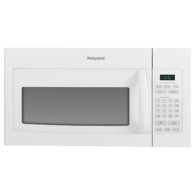 GE RVM5160DHWW Hotpoint Over-The-Range Microwave Oven, 1.6 Cubic ft., 950W, White by GE
