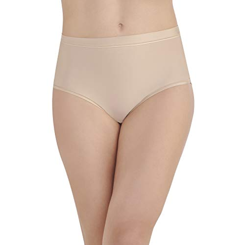 (Vanity Fair Women's Light and Luxurious Brief Panty 13196, Honey Beige, X-Large/8)
