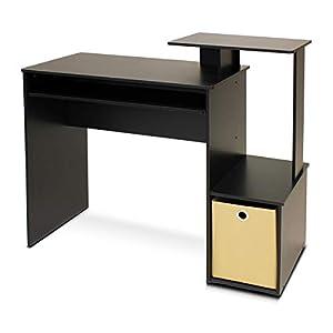 Furinno Econ Multipurpose Home Office Computer Writing Desk, Black/Brown
