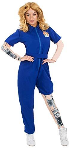 Ladies Bionic Woman Mechanical Jumpsuit Superhero Halloween Costume -