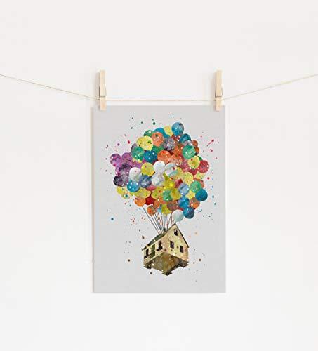 Up House Balloons Wall Art Print Room