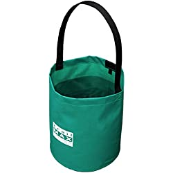 Outfitters Supply 3-Gallon Collapsible Water Bucket, Constructed From Tough Vinyl-Coated Nylon To Eliminate Tears And Leaks, Lightweight And Pack-able, Ideal For Horse And Mule Packing And Camping